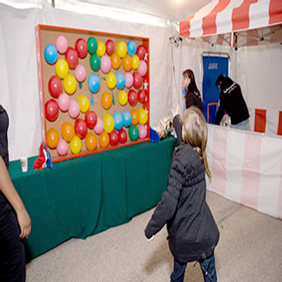 dallas party carnival game rentals balloon pop wall with darts